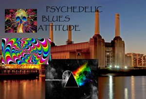 AFFICHE PSYCHEDELIC BLUES ATTITUDE
