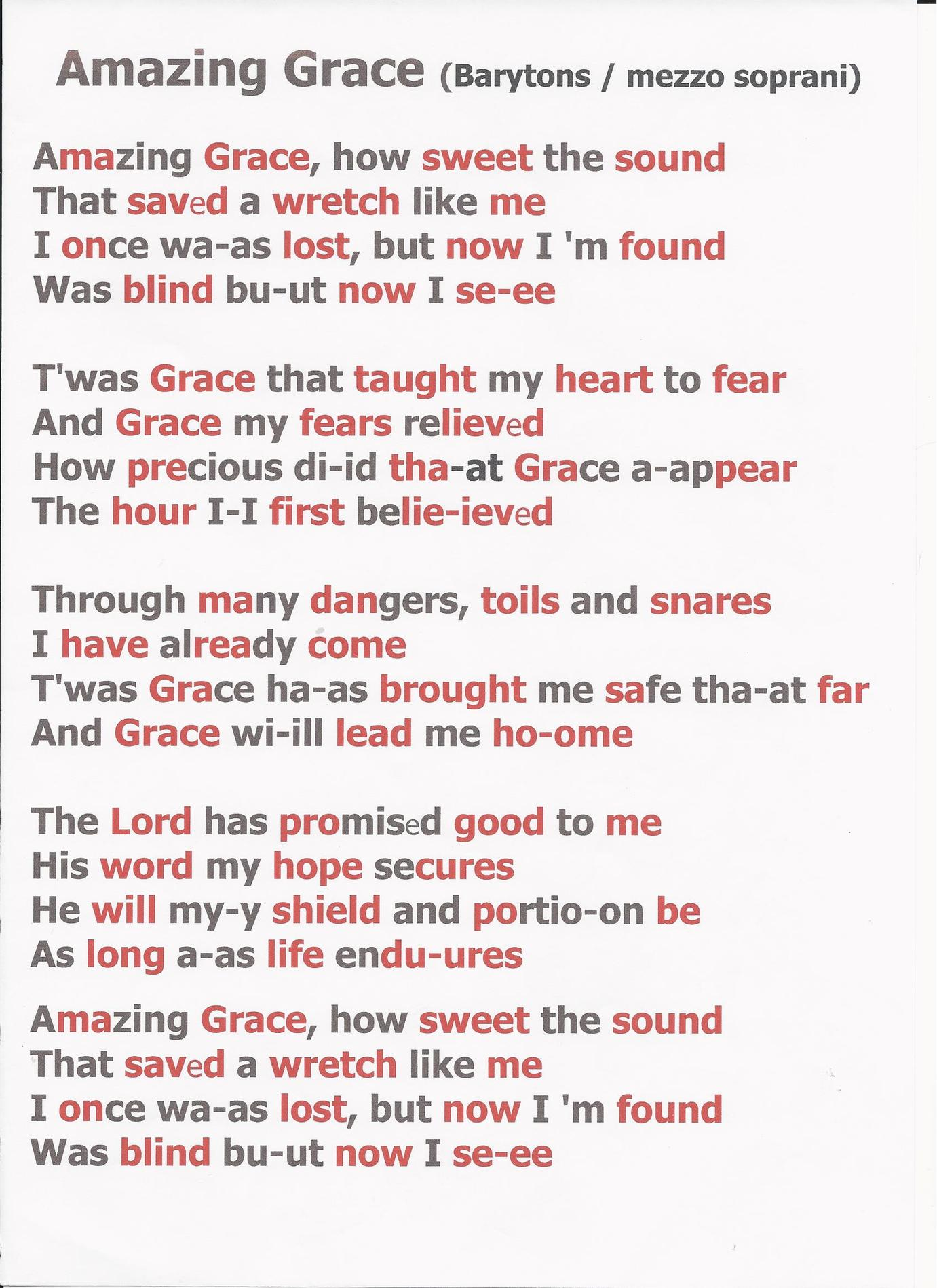 Amazing grace By