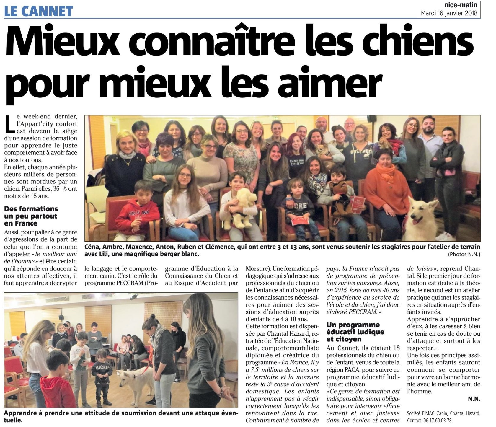 Article Nice Matin Le Cannet_