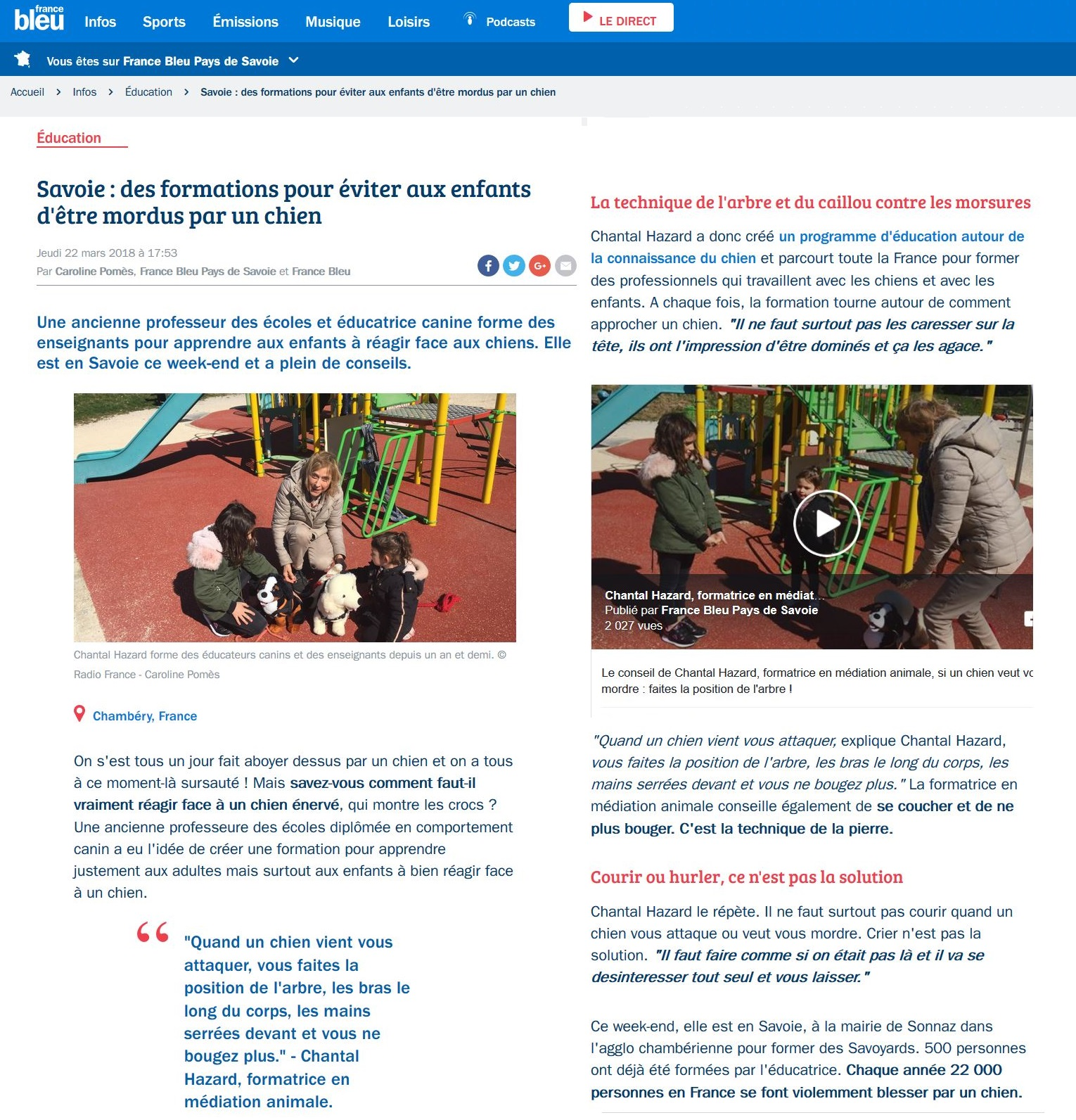 Article web france bleue
