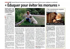 Article journal du centre 25 avril