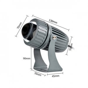projecteur led 10W dimension