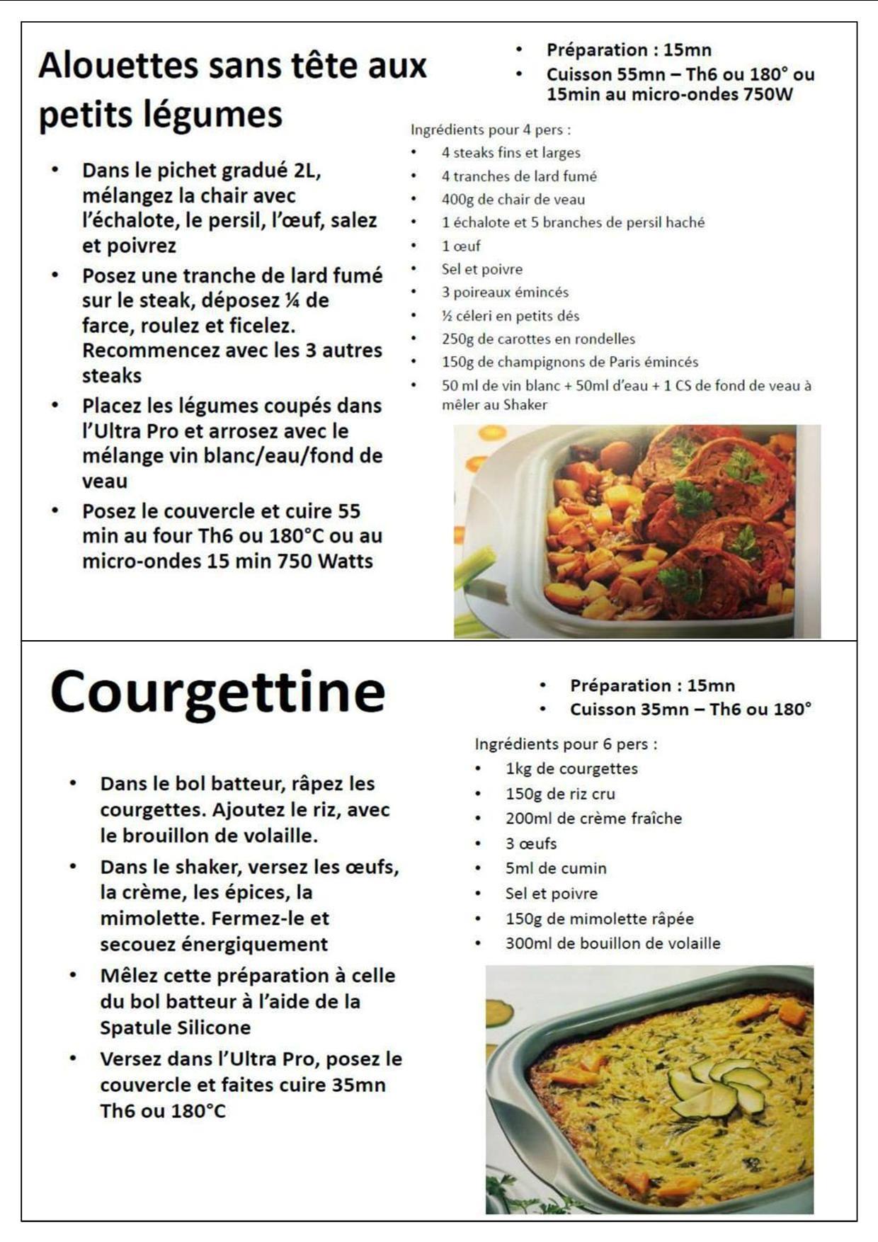 Recette courgette ultra pro tupperware – Un site culinaire ...
